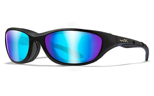 Polarized Blue Mirror/Gloss Black