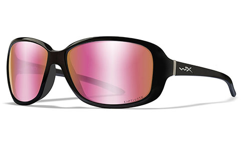 CAPTIVATE™ POLARIZED ROSE GOLD MIRROR (GREEN BASE)/GLOSS BLACK