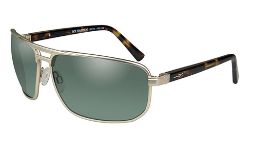 Polarized Smoke Green Lens/Satin Gold w/ Demi Tortoise