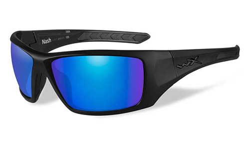 Polarized Blue Mirror (Green)/Matte Black