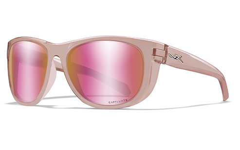 CAPTIVATE™ POLARIZED ROSE GOLD MIRROR (GREEN BASE)/CRYSTAL BLUSH