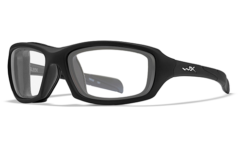 Sleek Clear Lens/Matte Black Frame