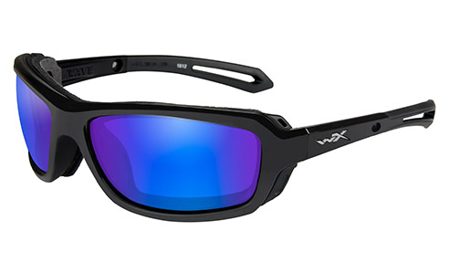 Polarized Blue Mirror (Green)/Gloss Black