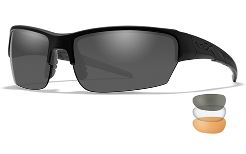 3 lens kit (Grey, Light Rust, Clear) - Matte Black