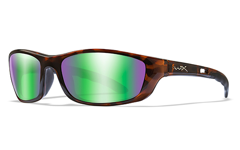 POLARIZED EMERALD LENS/GLOSS DEMI FRAME