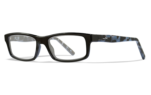 Lens Clear/Black With Black Demi Temples