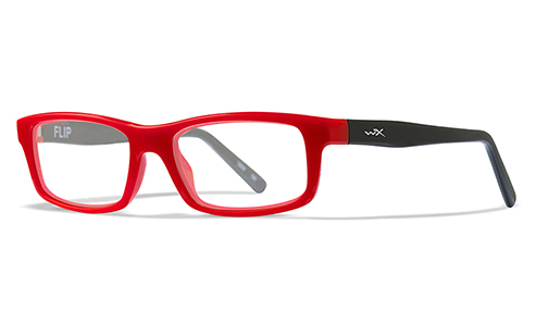Lens Clear/High Risk Red W/ Black Temples