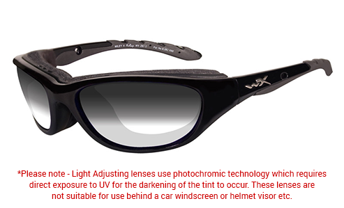 LA Grey Light Adjusting Lens/Gloss Black