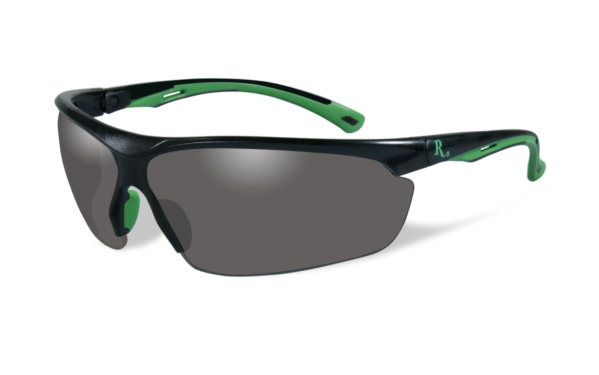Matte Black with Green Frame / Smoke Lens