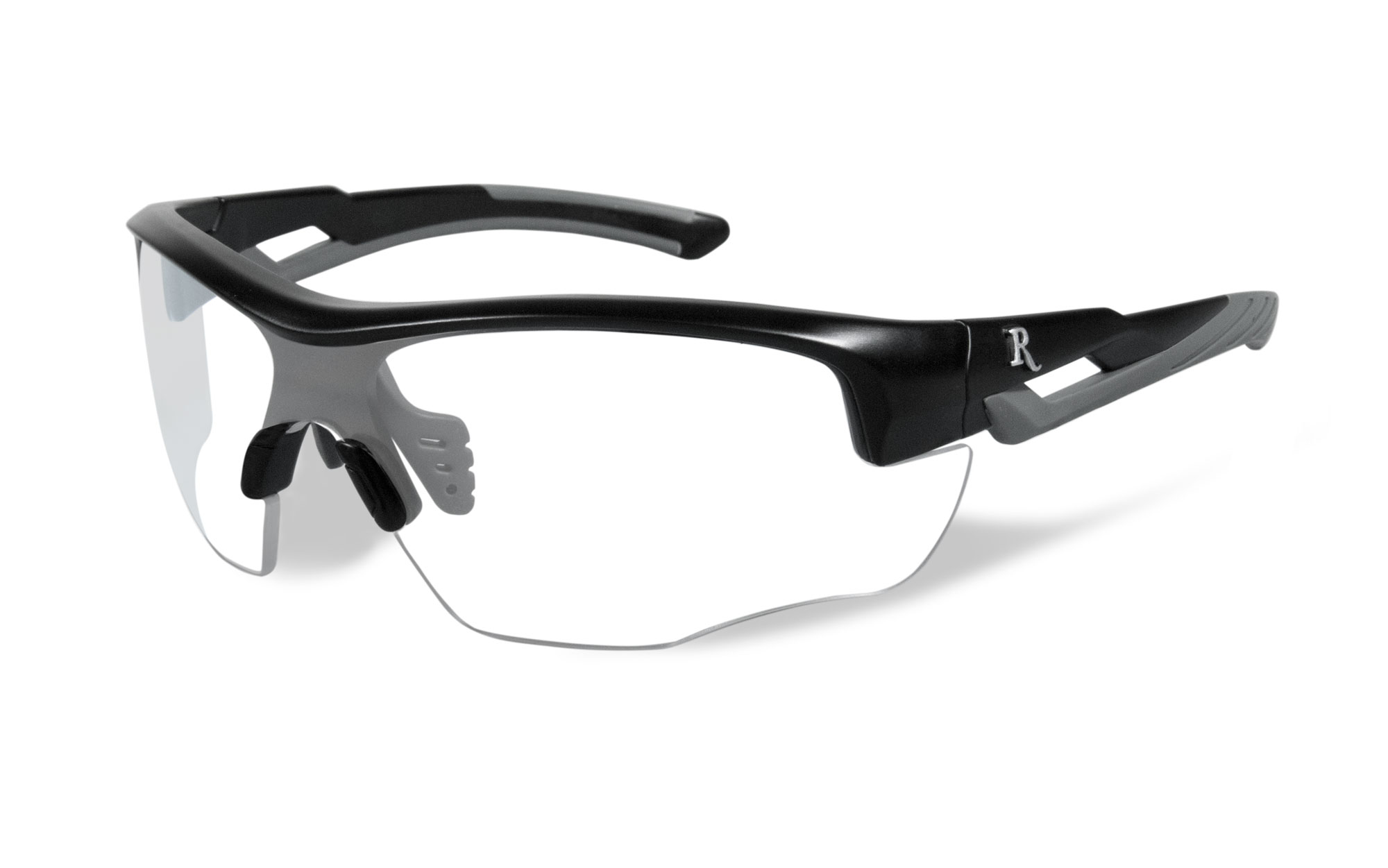 Matte Black with Grey Frame / Clear Lens
