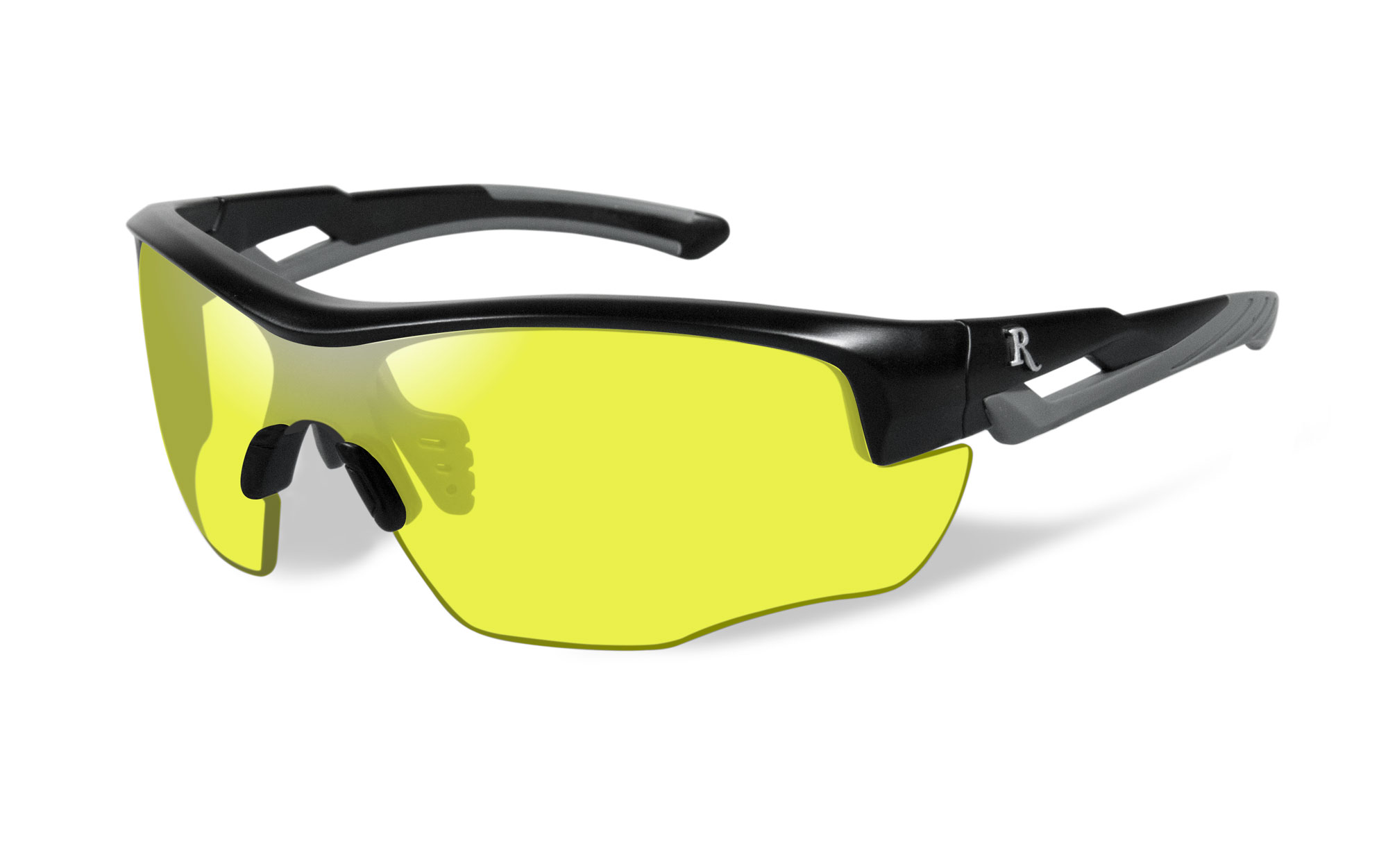 Matte Black with Grey Frame / Yellow Lens