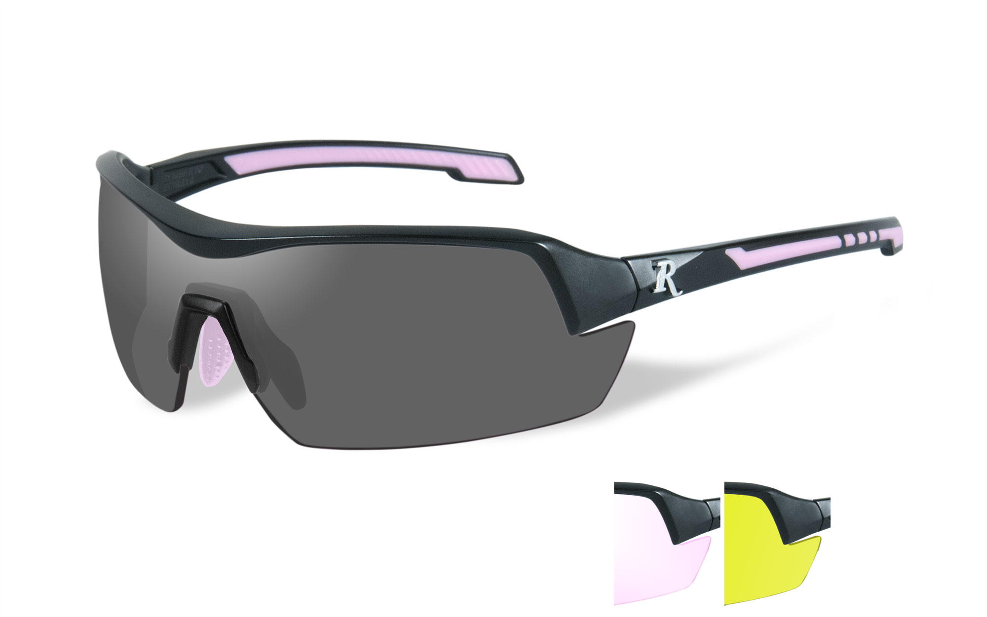 Matte Black with Pink / 3 Lens Kit