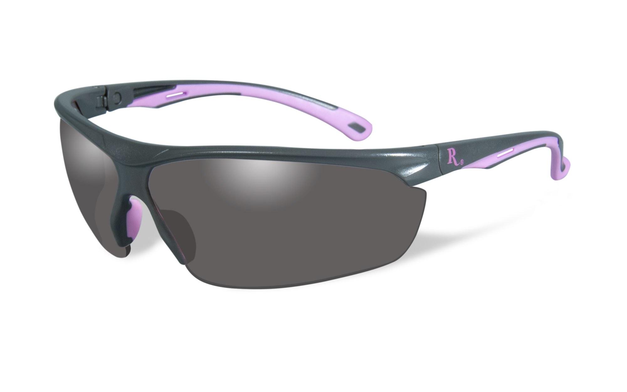 Matte Grey with Pink Frame / Smoke Lens