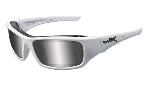 Matte White Frame/Polarized Silver Flash