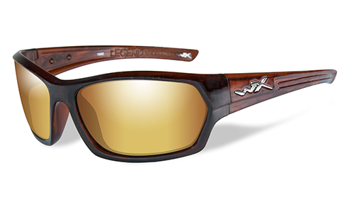 Polarized Lens Venice Gold Mirror (amber)/Glos Hickory Br