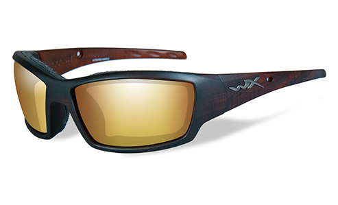 Polarized Lens Venice Gold Mirror (amber)/Matte Hickory Brown