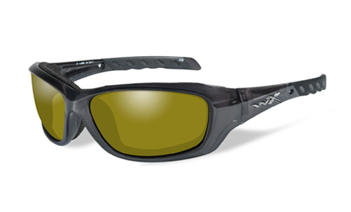 Polarized Yellow Lens/Black Crystal Frame