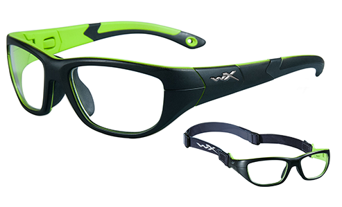 Standard Lens Clear/Matte Black/Lime Green
