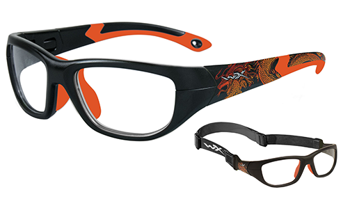 Standard Lens Clear/Matte Black/Sonic Orange w/Dragon