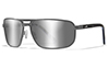 Polarized Silver Flash (Smoke Grey)/Matte Dark Gunmetal w/ Indigo