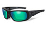 Polarized Emerald Mirror (Amber)/Matte Black
